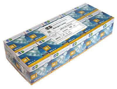 MR16 Halogen Light Bulbs 5W 10W 20W 35W 50W 12V Low Voltage GU5.3 50mm Spotlight 10
