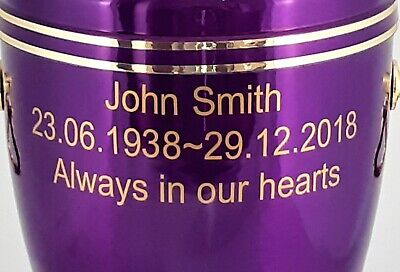 Human Casket Urn for Ashes Memorial Cremation Funeral Personalised Inscription 10