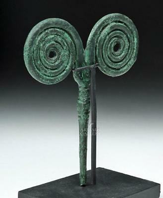 Greek Bronze Cloak / Hair Pin - Double Spiral Lot 22