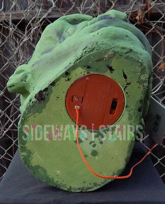 "13.5"" LIGHT-UP FRANKENSTEIN MONSTER HEAD HALLOWEEN PROP decoration horror rare 9"
