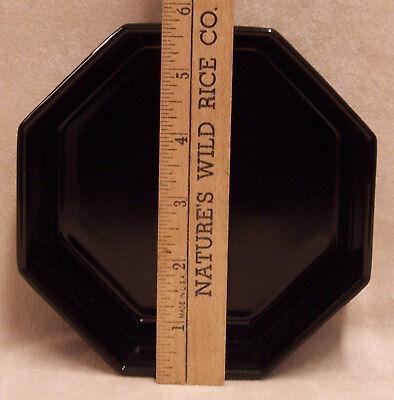 Bowls Black Octagon Ceramic Arcoroc France 8 Sided China Dinnerware Set of 2 2