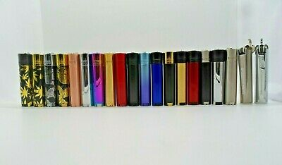 Clipper Metal Lighters With Metal Gift Tin Case Refillable Multi Colors Free Tin 2