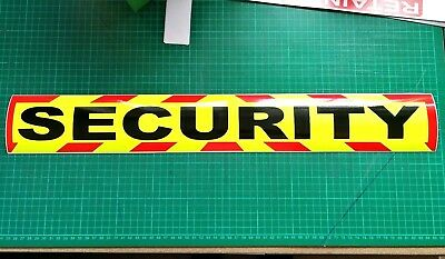 SECURITY MAGNET DOG HANDLER MAGNETIC SIA CHEVRON DAYGLO Sticker 620mm 4