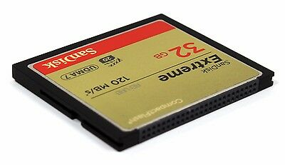 SanDisk 120MB/s Extreme S 32GB CompactFlash CF Memory Card SDCFXS-32G 32 GB 5