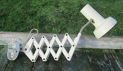 Vintage Industrial Machine Age Scissor Wall Lamp Expanding Mounted Adjustable 3