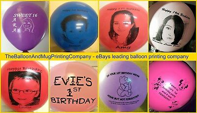 30 CUSTOM PRINTED PERSONALISED ANY TEXT AND LOGO OR PHOTO Helium Balloons Latex 5