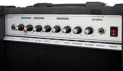 2-Kanal E-Gitarren Verstärker Combo Amp 4-Band Equalizer Digital Effektgerät 60W