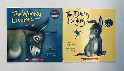 Lot 2 The Wonky Donkey + Dinky Donkey Childrens Book Bestselling World Famous! 4