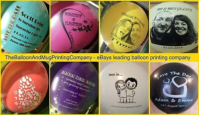 30 CUSTOM PRINTED PERSONALISED ANY TEXT AND LOGO OR PHOTO Helium Balloons Latex 7