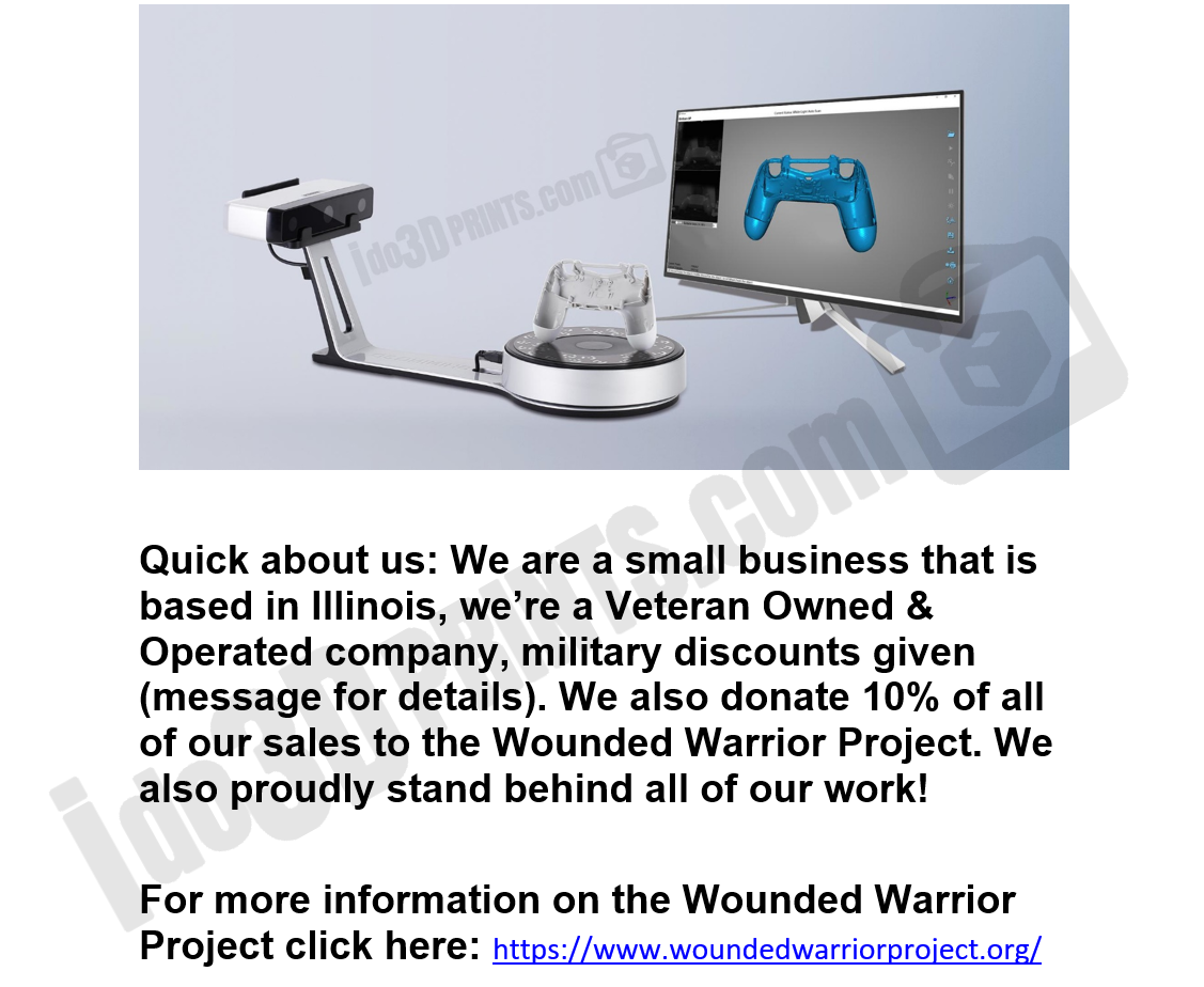 3D Printing Service ⭐️⭐️⭐️⭐️⭐️ 💜10% of sales to Wounded Warrior Project💜 5