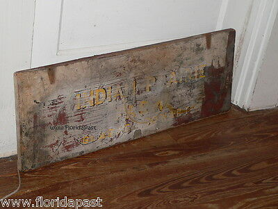 Antique INDIAN PRAIRIE FARM GLADYS COWART Trade Sign Lid Marion County Florida 6