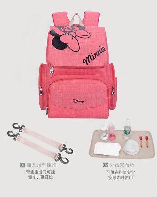 DISNEY Mickey Minnie Baby Maternal Stroller Maternity Nappy Bag 9