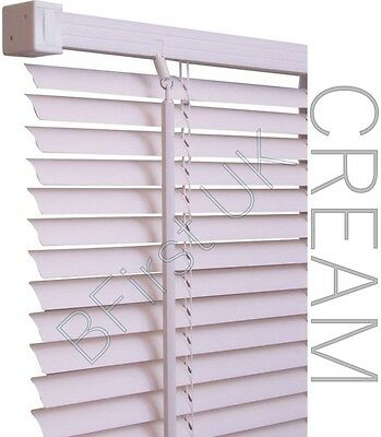 Read to Fit Venetian Window Blind PVC Trimmable Easy to Cut Slats WITH BRACKETS 4