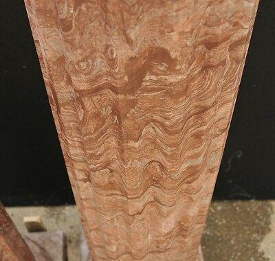 Pair Large Italian Tuscan Marble Column Pedestal Stands 4