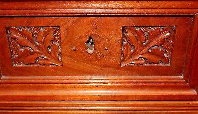 Antique American Victorian Eastlake Walnut & Rose Marble-Top Dresser 4