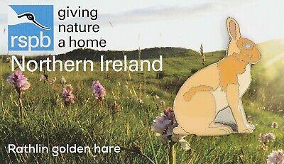 RSPB Pin Badge   Northern Ireland Special    Rathlin golden hare    [01659] 2