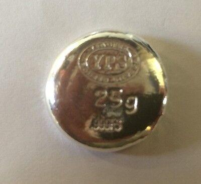 "25 gram Hand Poured 999 Silver Bullion Rd ""Plata Muerta"" (Dead Silver) by YPS 3"