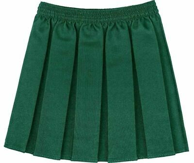 New Girls School Skirts Box Pleated Elasticated Waist Skirt Kids School Uniform 2