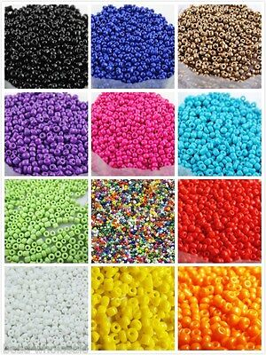 Czech 1000pcs 15g 2mm Round Opaque Lot Colorful Glass Seed Beads Jewelry Making 2