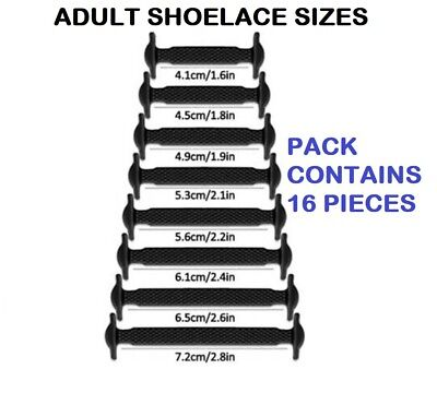 Silicone Shoelaces Elastic Shoe Lace Easy No Tie Kids Adult Lazy Trainers Rubber 4