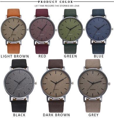 Unisex Fashion Casual Women's Watches Men Leather Bracelet Quartz Wrist Watch 6