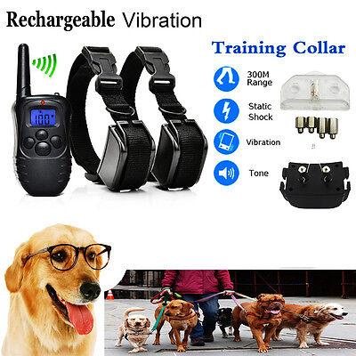 300M Electric Anti-Bark Shock Collar Dog Training Remote Control Anti-Barking 4