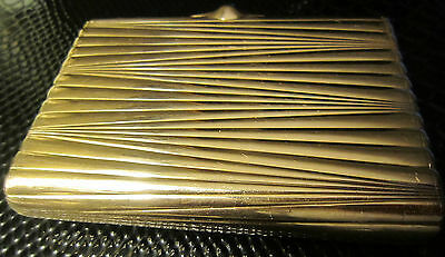 Amazing heavy antique imperial Russian gold (56) cigarette case with cabochon! 7