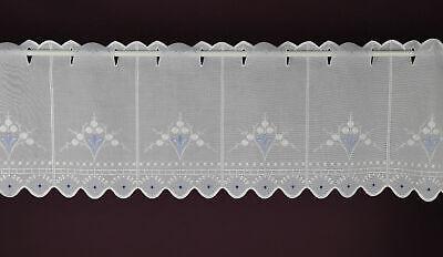 Scheibengardine nach Maß Jacquard-Lamellenpanneau wählbare Breite 45x14 cm Taupe