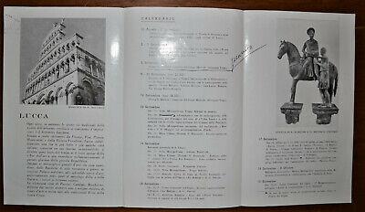 Lucca Festa Della Santa Croce 3 Depliant Vintage 1956-61-67 3