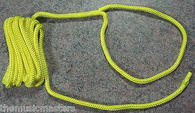 "Orange Double Braided 3//8/"" x 15/' ft Boat Marine HQ Dock Line Mooring Rope 1"