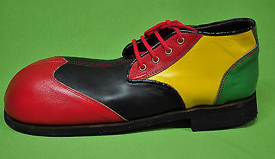 ZYKO Professional Real Leather Clown Shoes Long Multicolor ZH0011