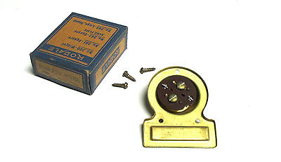 * NIB  RODALE Vintage Bakelite Push Button Door Bell (Brass)  Cat# 312 . VM-36C