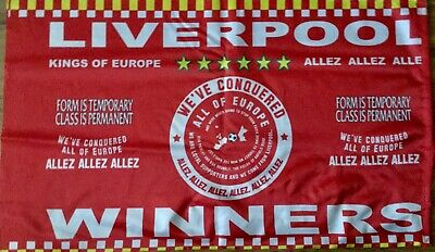 Liverpool European Cup Final Flag Madrid 2019 Champions League Winners 3