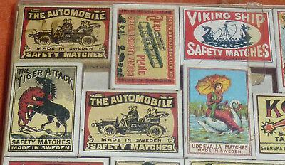 47 Streichholzschachteln Sammlung Reklame Werbung um 1900 Automobilia etc. 7