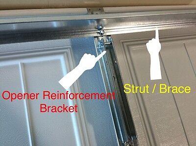 4 Of 10 2 Horizontal Garage Door Opener Reinforcement U Bar Strut Brace For  8u0027 Wide Door