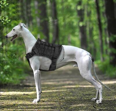US Police K9 Tactical Training Dog Harness Military Adjustable Molle Nylon Vest 6