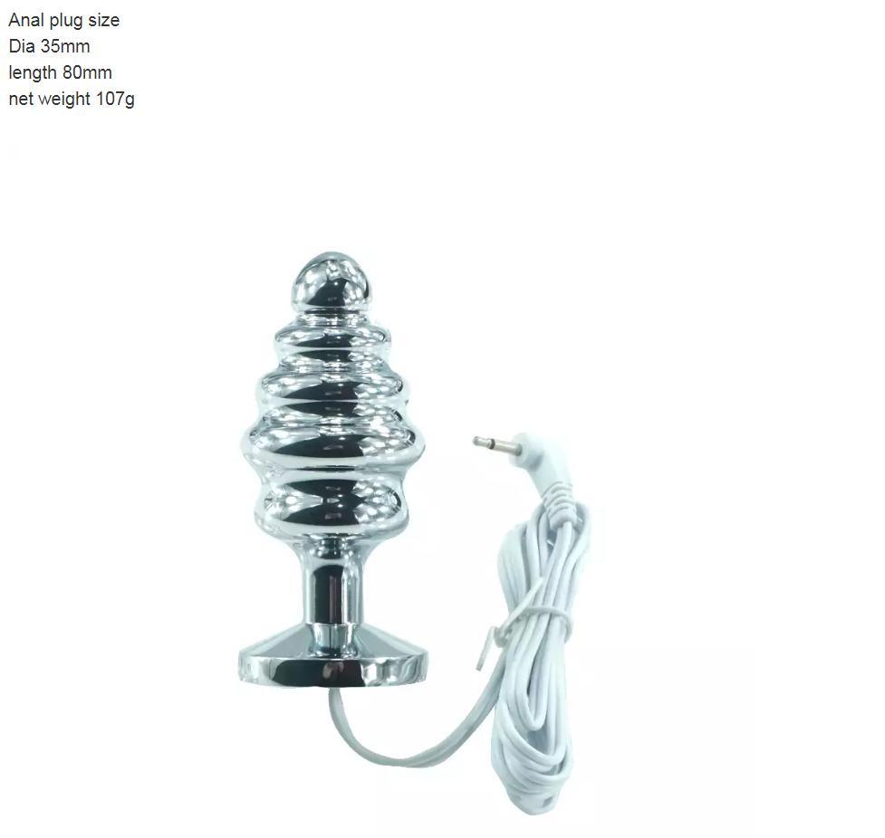 Electro Tens Toning Conductive Steel Spiral Bi Polar Plug With 2.5 Mm Jack Plug. 4