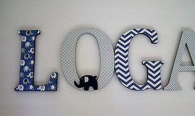 1 Of 4 Wood Letters Nursery Decor Any Name Custom Made Many Other Designs Available