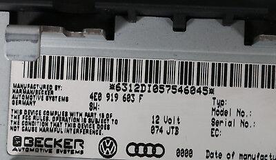 Audi A8 S8 W12 4E Display Monitor Navi Navigationsanzeige MMI BECKER 4E0919603F