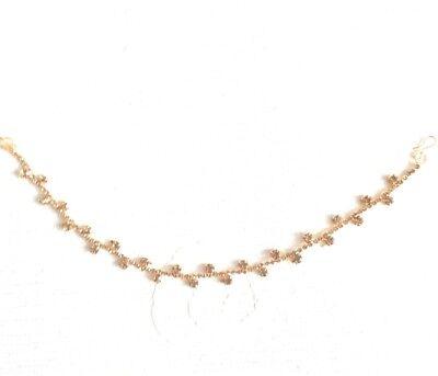 Uk New Matha Patti Hijab Jewellery Chain Gold Indian Tikka