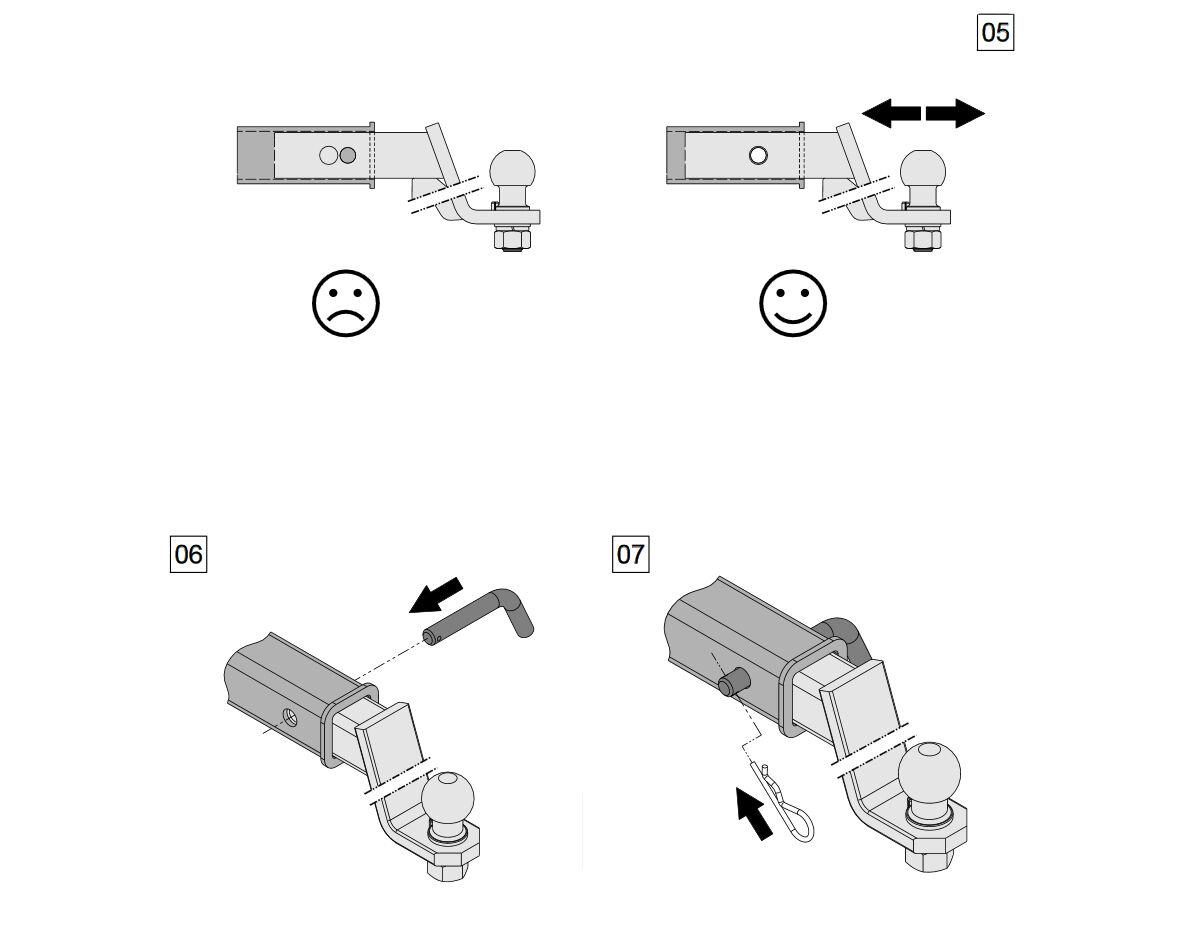 Für Nissan Xterra Qashqai Anhängerkupplung Adapter US-Fahrzeuge 51x51mm Kugel
