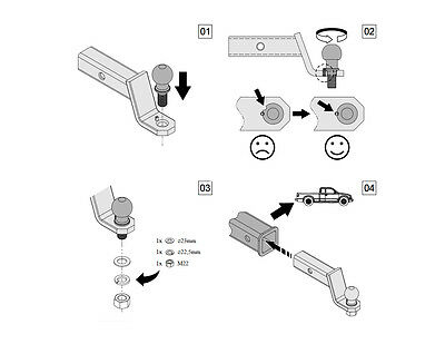 Für GMC Suburban Anhängerkupplung Adapter US-Fahrzeuge 51x51mm Kugelkopf Kugel