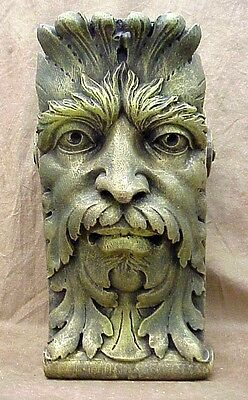 Green Man Wall Corbel Bracket Shelf Architectural Accent Home Decor 4