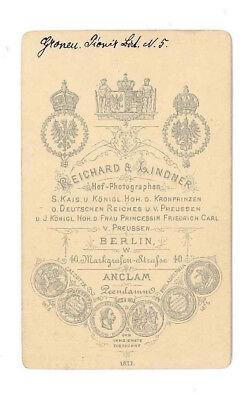 Berlin, Kgr. Preußen, Karl Gronen, späterer General der Infanterie, CDV, 1870er