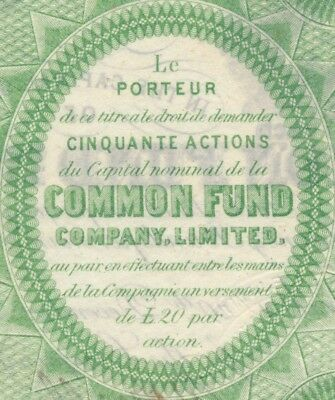 THE COMMON FUND COMPANY LIMITED London 1869 Aktie (389