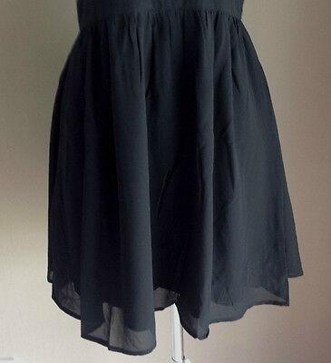 Bulk Lot x 7 NEW Dresses Black Chiffon Lace Up Back Sizes 6 - 12 Styla Label 4