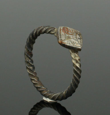 Beautiful Ancient Medieval Silver Ring - Circa 15Th Century Ad 3