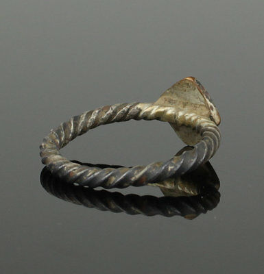 Beautiful Ancient Medieval Silver Ring - Circa 15Th Century Ad 4