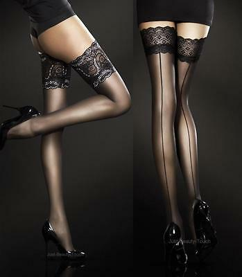 Exclusive Hold-ups by Fiore Sheer Lace Top New Various Colours 2