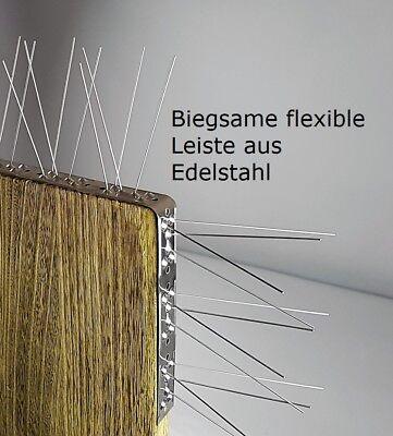 Taubenabwehr, Taubenspikes, 4-reihig auf 50 cm Edelstahlleiste, made in EU